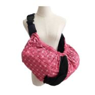 Baby Sling Carry Pouch - Pink Tartan